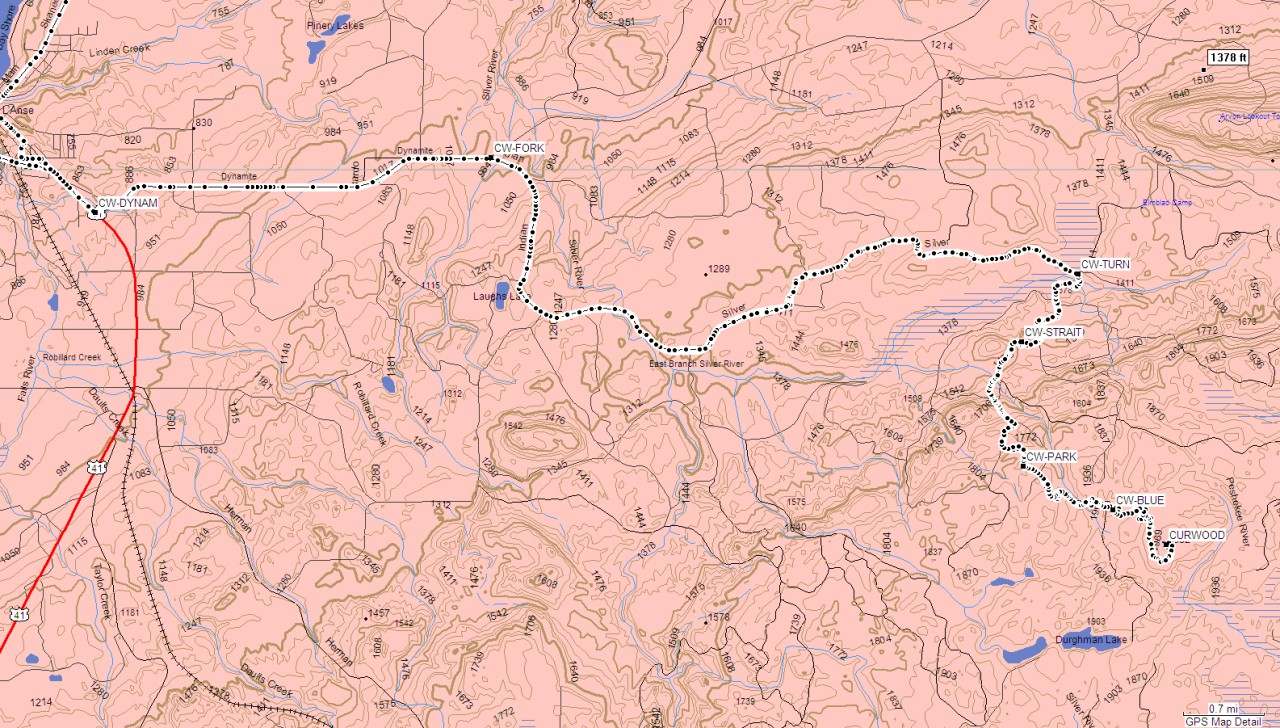 Michigan mount arvon gps map of our route up curwood publicscrutiny Image collections